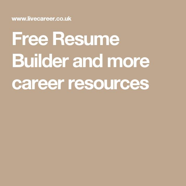 Más de 25 ideas fantásticas sobre Free Resume Maker en Pinterest - where can i make a free resume online