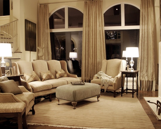 Arched window treatment living room arched window floor for Living room ideas with 3 windows