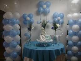 Image result for decoracion con globos para bautizo