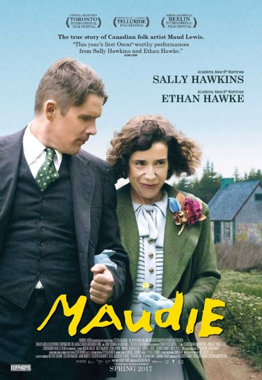 Maudie movie poster featuring Sally Hawkins and Ethan Hawke.