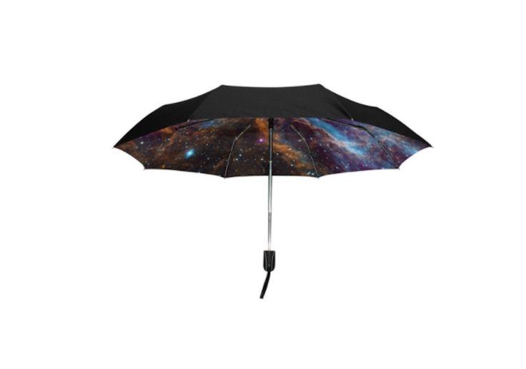 青空から銀河まで内側デザインに景色が広がる自動開閉折りたたみ傘まとめ