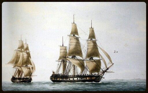Boussole y L'Astrolabe (Brújula y Astrolabio).naves de Laperouse.