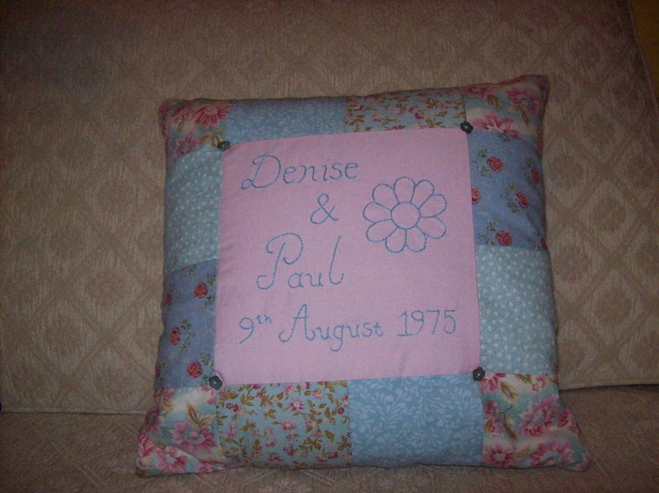 Anniversary Style Cushion.  Please take a look at the items I sell @ www.lemayed-for-you.webs.com, thanks.
