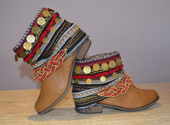 Tribal Brown ankle boots /MISIGABRIELLA