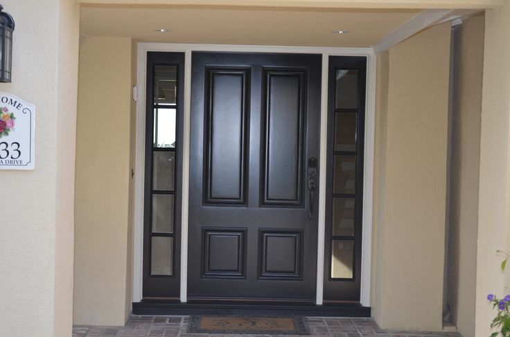 Black Door With Side Light : Best images about entry doors with side lights on