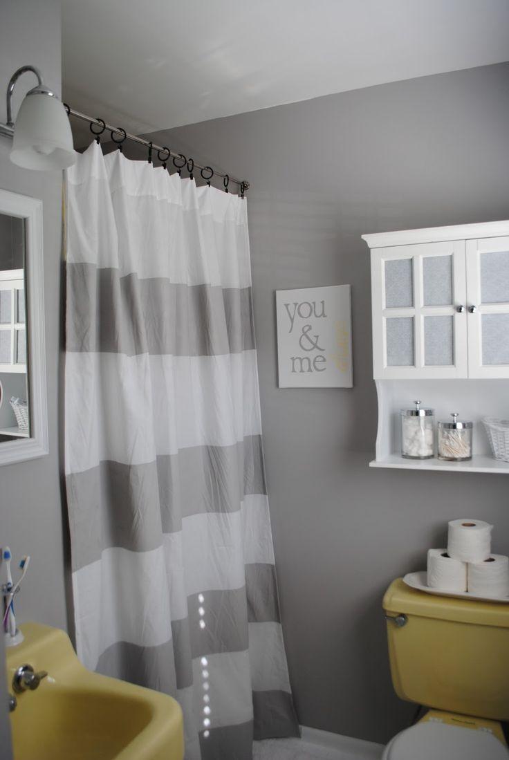 Best 20 grey yellow bathrooms ideas on pinterest grey for Yellow and green bathroom ideas