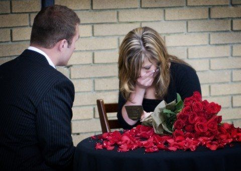 The groom had the bride's father write her a letter. The letter contained his approval of their relationship.