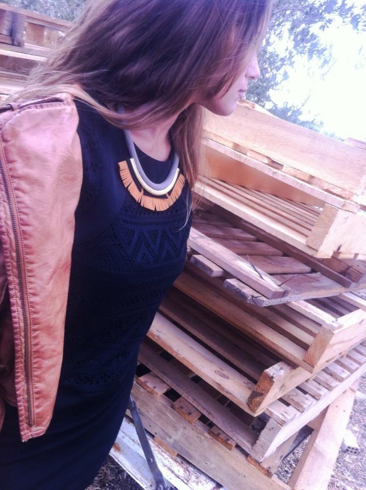 necklace # fringes # metal