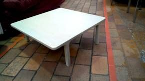 TABLE BASSE CARREE BLANCHE VINTAGE Etterbeek