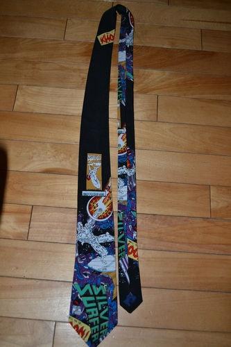 Men's Novelty Tie Necktie 1992 Marvel Comics Silver Surfer Silk   eBay