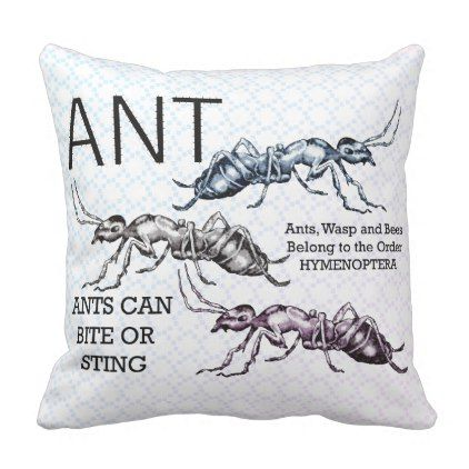 Ant Insects Bugs Outdoor Pillow - baby shower gifts  party giftidea
