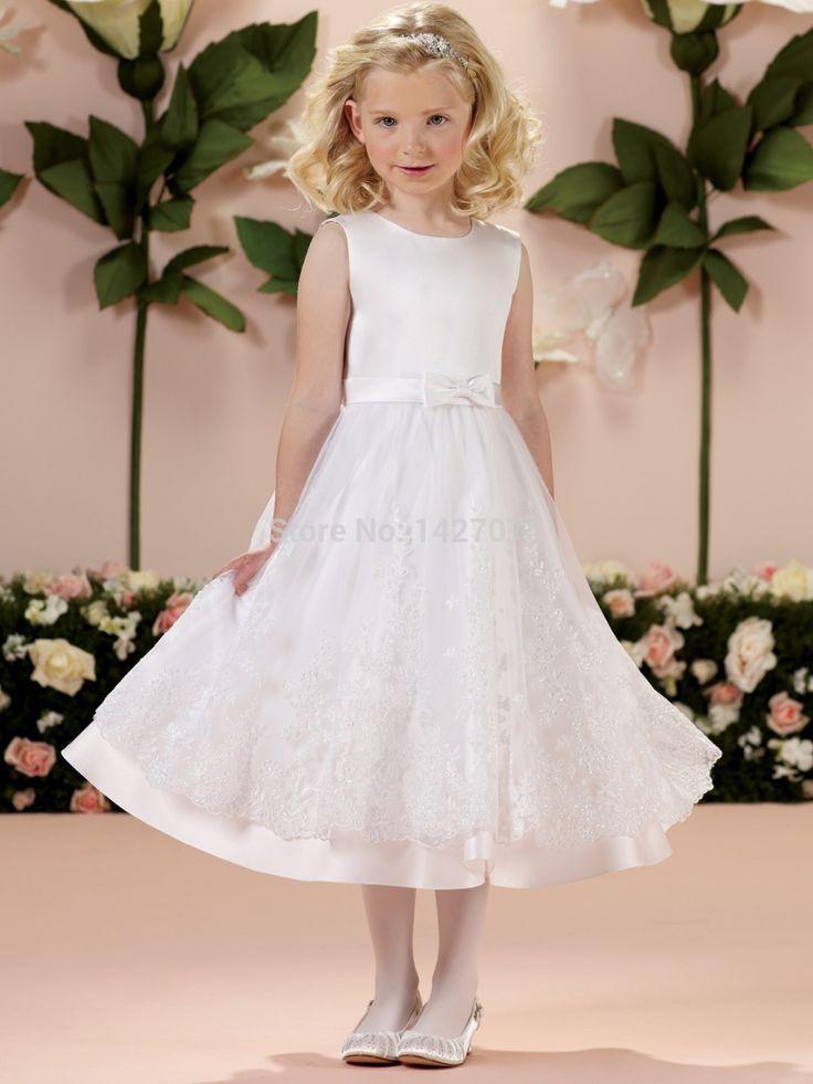 Купить товарКрасивые рукавов атласная юбка тюль кружева аппликация первого святого причастия праздник платье девушки цветка в категории Платья для девочек с букетомна AliExpress.         Как измерить