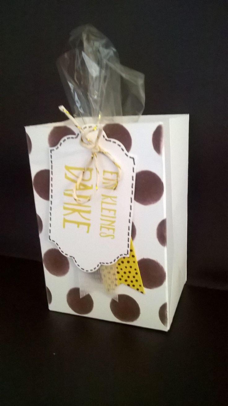 Stampin Up! Geschenktasche mit einer Tassenkuchen Backmischung!