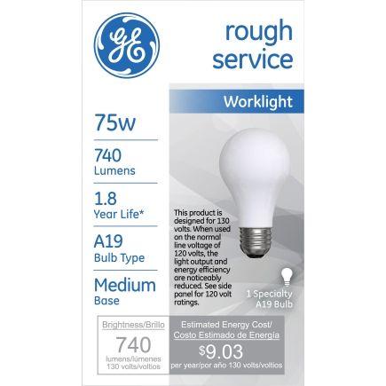 $4.99 ACE GE® Rough Service 75 Watt Light Bulb (72530) - Specialty Light Bulbs - Ace Hardware