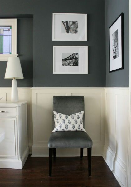 Farrow And Ball Downpipe Pinterest Grey Dado Rail Panelling