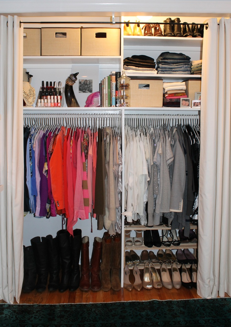 Closet Organization And Curtain Instead Of Doors