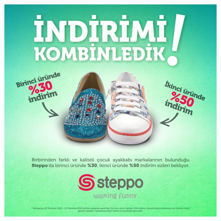 Birbirinden farklı, güzel ayakkabıların adresi Steppo'da indirim fırsatı sizleri bekliyor! #Espark