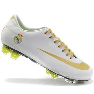 http://www.asneakers4u.com Popular New Nike Mercurial Vapor SuperFly III Elite FG Safari Real Madrid Soccer Team Cleats In White Gold