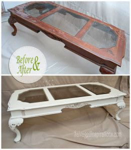 Salvaged Inspirations: Antiqued French Coffee Table: