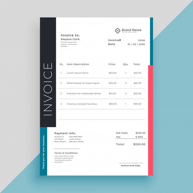 Download Clean Modern Invoice Business Template For Free Invoice Design Invoice Design Template Business Template