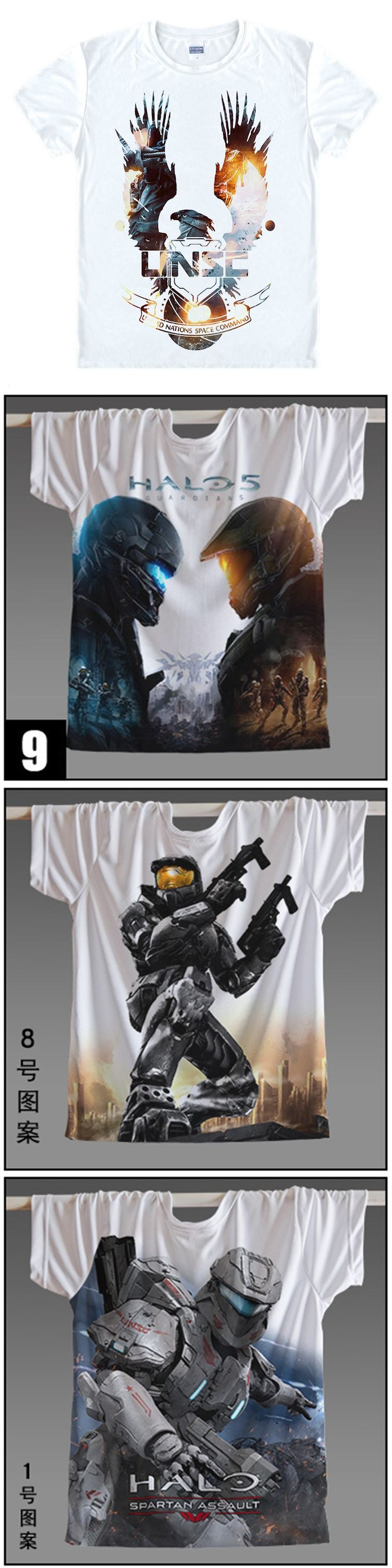 Game Halo UNSC T Shirt  Halo Master Chief 3D Printed Men Women t-shirt  anime Wars Game t shirts Wholesale Custom Tshirt