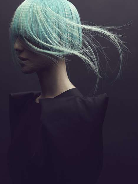 hair editorial by x-pression Photos 1 - Avant-Garde Hair Designs pictures, photos, images