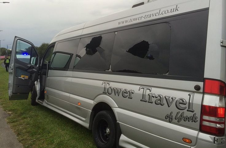 Bus attacked after Barrow AFC v York City match http://www.cumbriacrack.com/wp-content/uploads/2016/09/Barrow-AFC-Bus.jpg Officers are appealing for information following an attack on mini buses carrying supporters of York City following their game away to Barrow AFC on Saturday    http://www.cumbriacrack.com/2016/09/26/bus-attacked-barrow-afc-v-york-city-match/