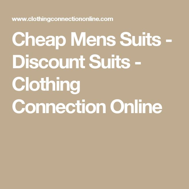 Cheap Mens Suits - Discount Suits  - Clothing Connection Online