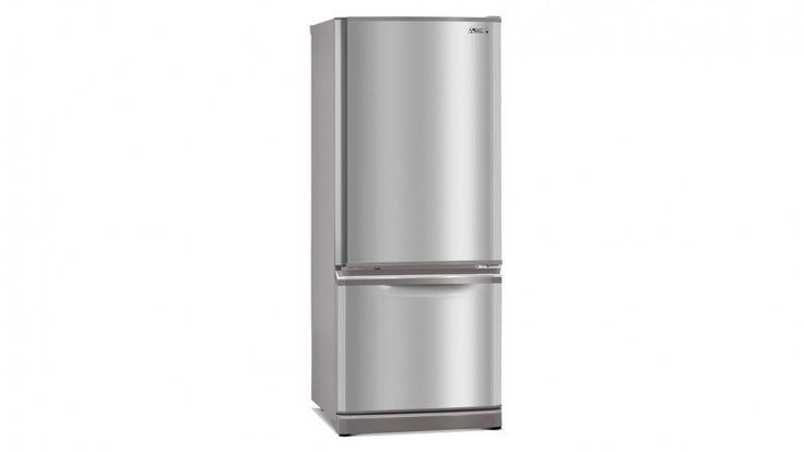Mitsubishi 325L 2-Door Bottom Mount Stainless Steel Fridge - Fridges - Appliances - Kitchen Appliances   Harvey Norman Australia