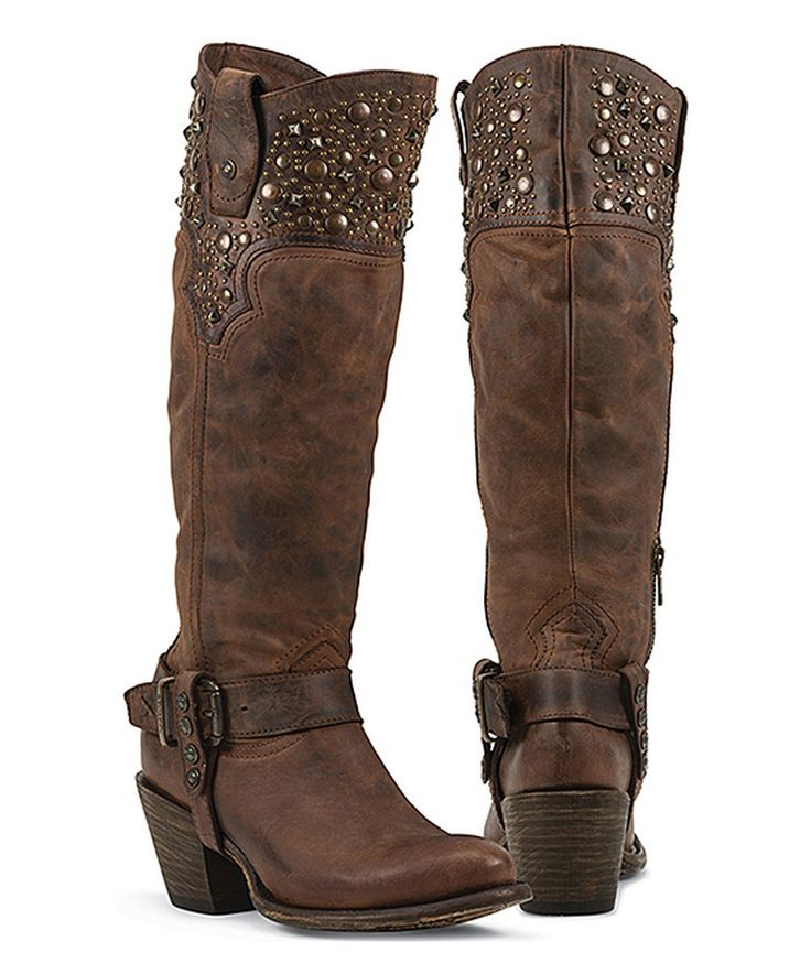 Look what I found on #zulily! Black Star Brown Regulus Leather Western Boot by Black Star #zulilyfinds