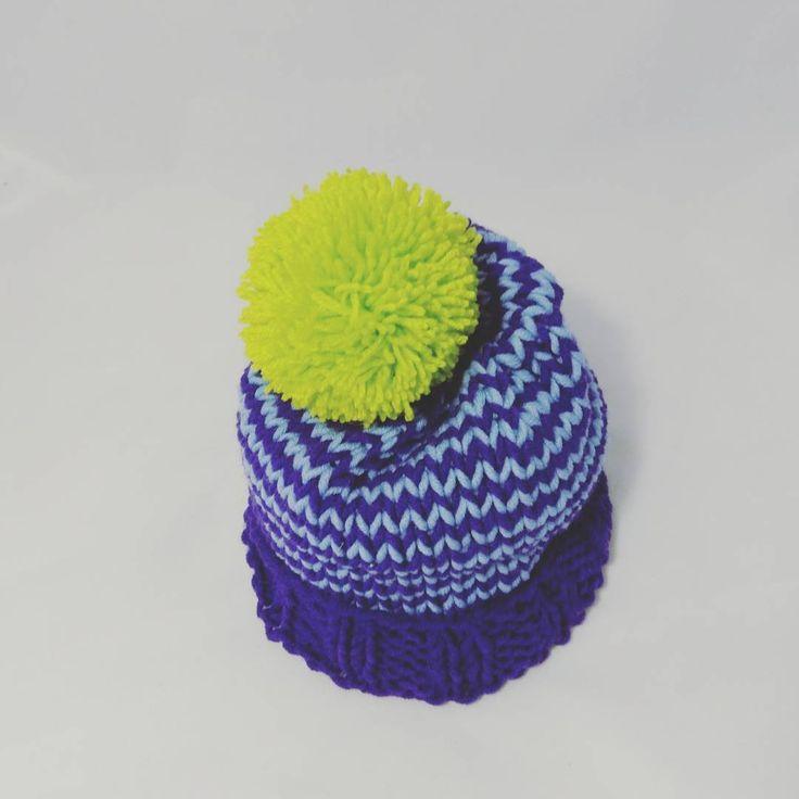 """#handmade#handed #knitting#knitwear #needles#hatknitting #hat #knitcap#snowhat #cap #acrilyc 70%…"""