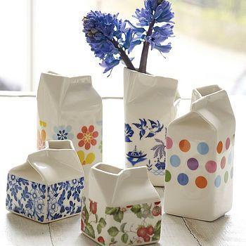 Porcelain milk cartons