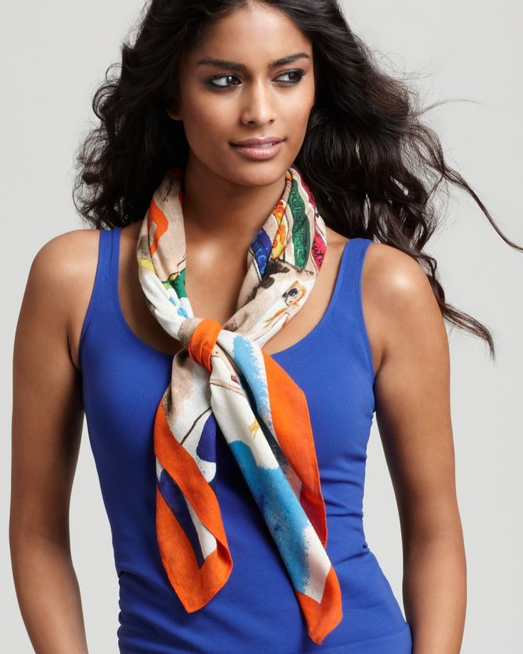 nouer porter foulard