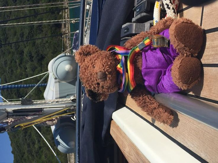 Found on 19 Jul. 2016 @ Marina Split, Croatia. Found brown teddy bear (Bruno…