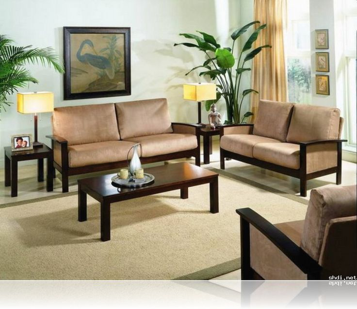 Simple Wooden Sofa Sets For Living Room 9NRfTB3z