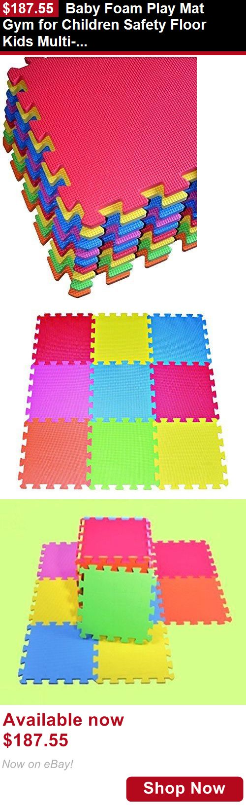 Baby gyms and play mats: Baby Foam Play Mat Gym For Children Safety Floor Kids Multi-Color Exercise Block BUY IT NOW ONLY: $187.55