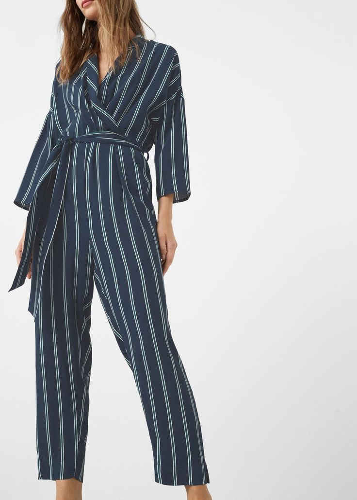 Lastest Mango Flowy Long Jumpsuit In Black  Lyst