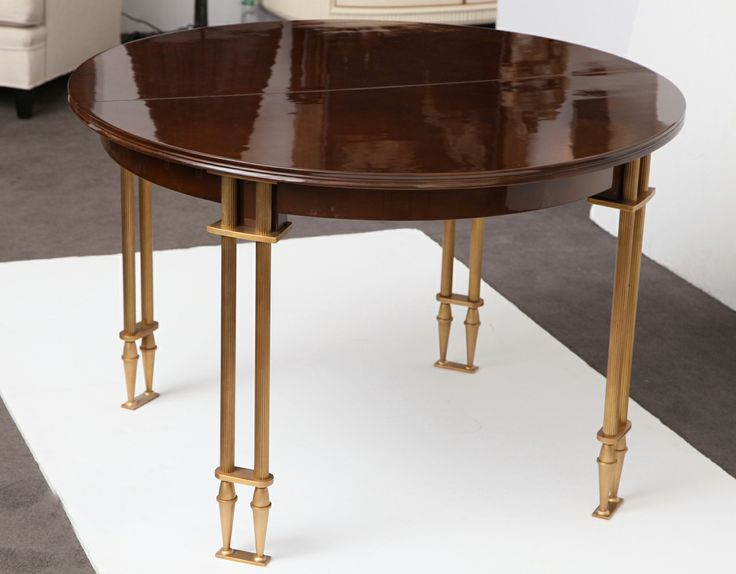 Fine Extension Dining Table By Jules Leleu