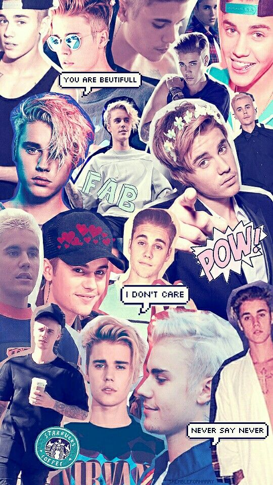 Papel de parede para celular, colagem, Justin Bieber