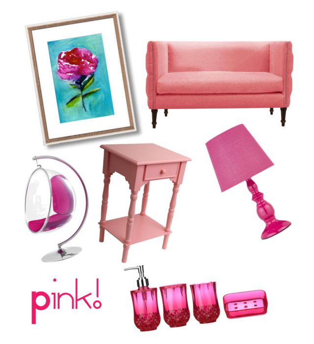 My pink living room by beautylover06 liked on polyvore