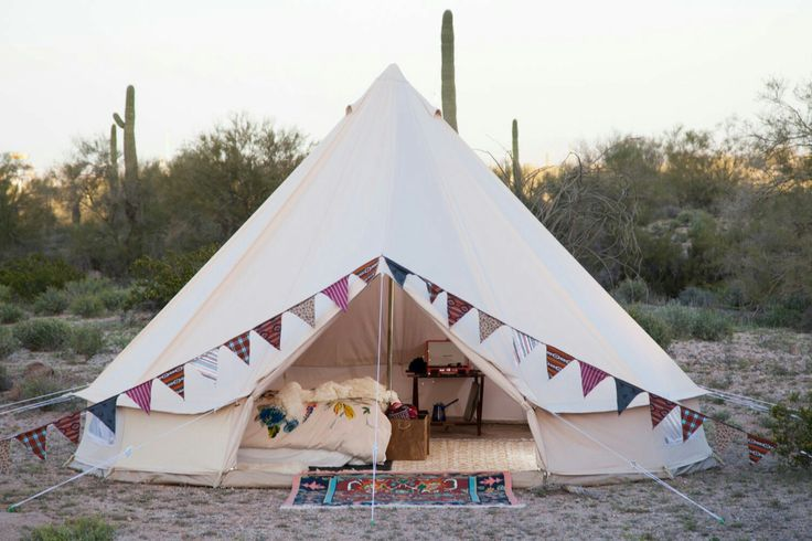 Bell tent glamping camping bunting
