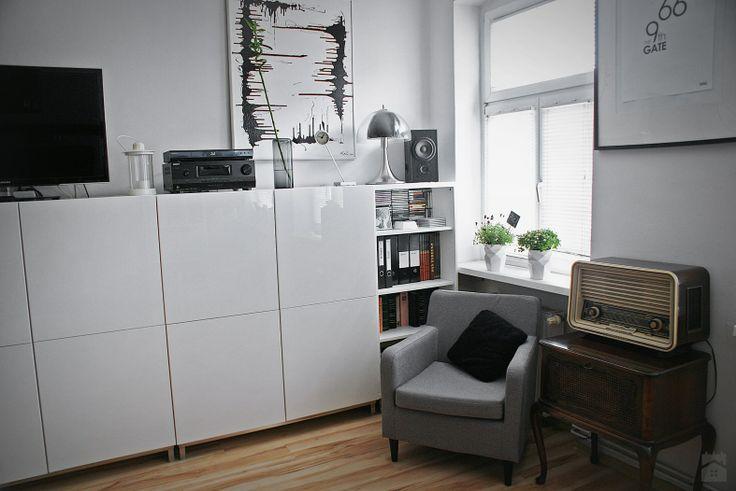 Salon - Styl Skandynawski - KODA DESIGN studio projektowe Dawid Kotuła