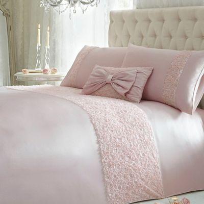 Star by Julien Macdonald Pink Ruched 'Arrietta' Bed Linen.......
