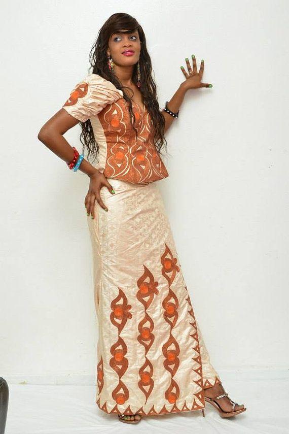 African brocade blouse and wrapper set ~Latest African Fashion, African Prints, African fashion styles, African clothing, Nigerian style, Ghanaian fashion, African women dresses, African Bags, African shoes, Kitenge, Gele, Nigerian fashion, Ankara, Aso okè, Kenté, brocade. ~DK