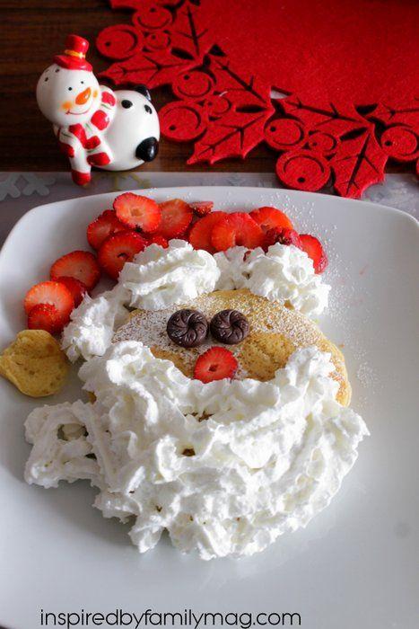 Fun Christmas Food: Santa Pancakes