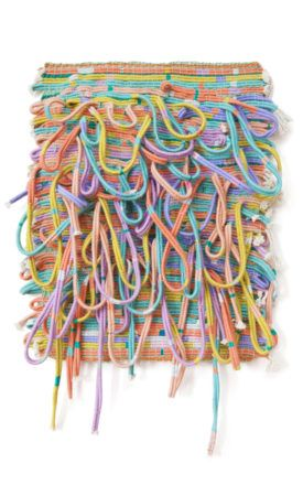 Alicia Scardetta, Forever-2015 Cotton yarn and rope and Metallic Thread
