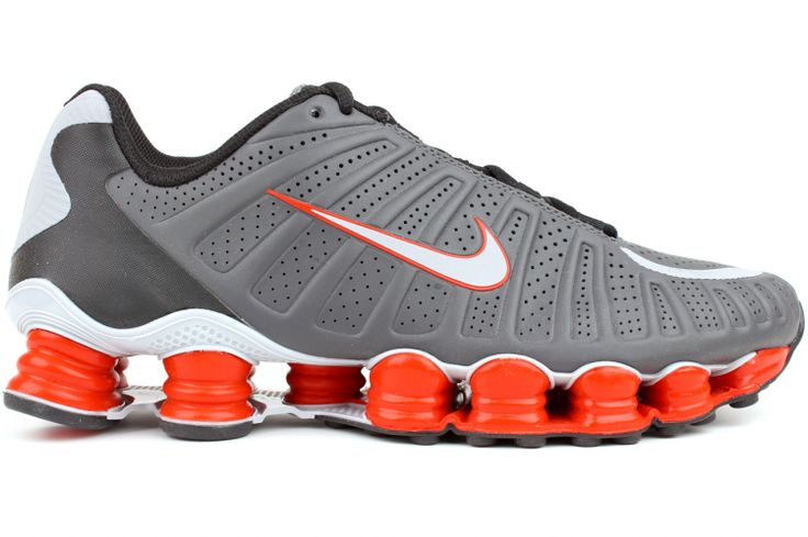 NIKE Shox TLX 488313 018 Dark Grey / Wolf Grey-Black-Team Orange The