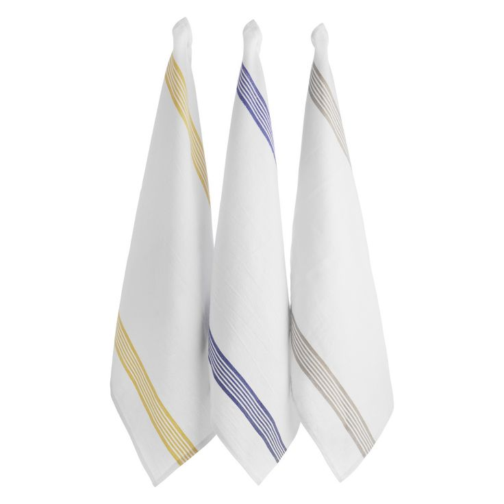 LAVRIC Set of 3 white tea towels