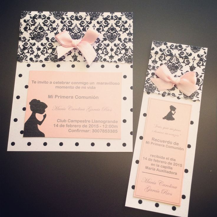 51 best invitaciones pc images on pinterest - Como hacer tarjetas de comunion ...