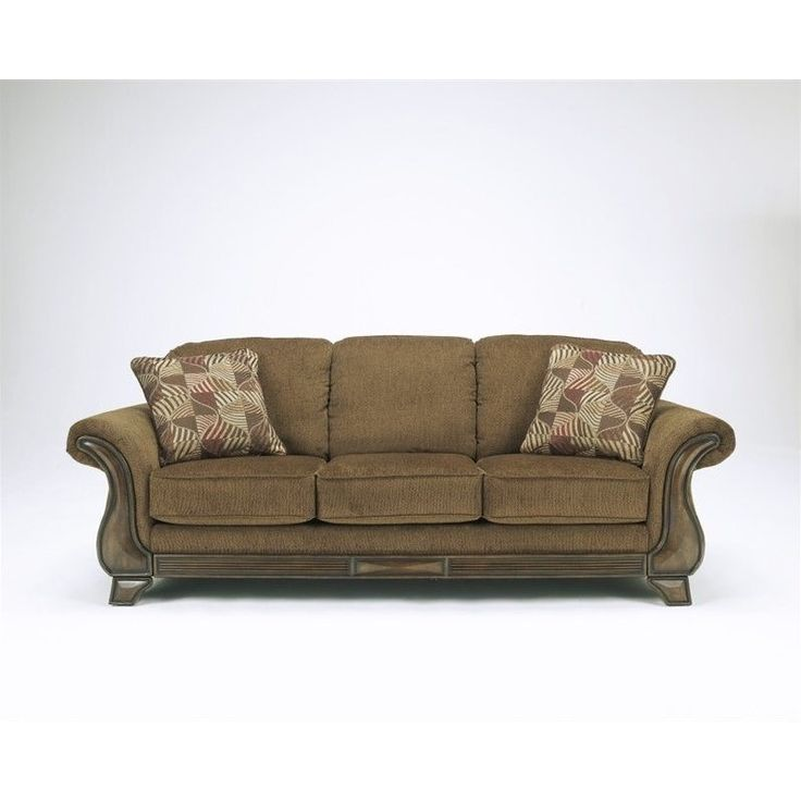 Lowest price online on all Signature Design by Ashley Furniture Montgomery Fabric Sofa in Mocha - 3830038